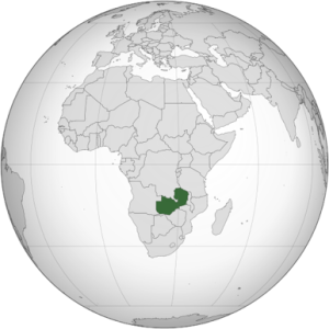 Location of Zambia in Africa. Source: Wikipedia